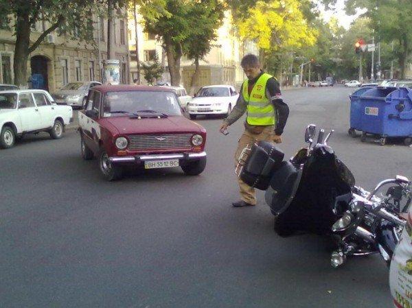 Очередная авария по ул. Новосельского с участием байкера (фото), фото-6